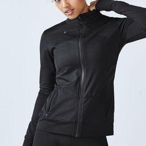 Fabletics Kira Full Zip Black Jacket